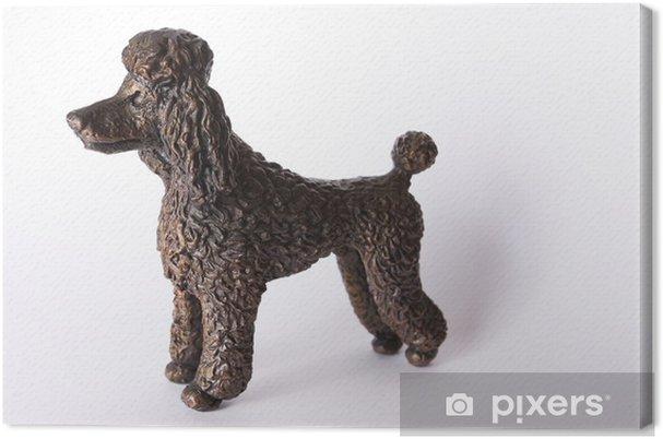 Obraz na płótnie Bronze statuetka psa pudla - Sztuka i twórczość
