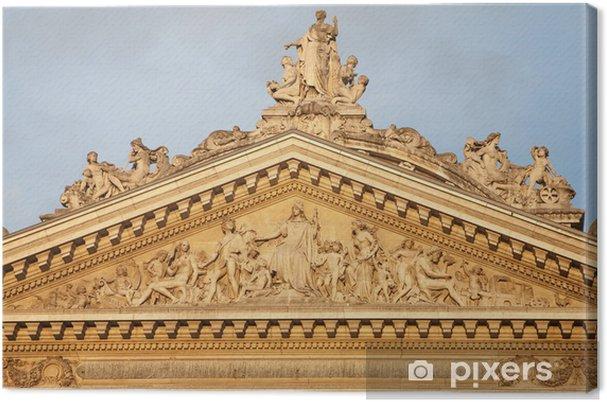Obraz na płótnie Bruksela - Tympanon z budynku giełdy - - Miasta europejskie