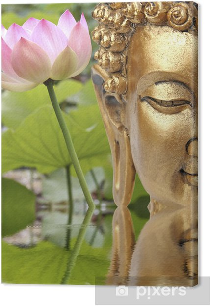 Obraz na płótnie Budda i święte różowy kwiat lotosu - Tematy