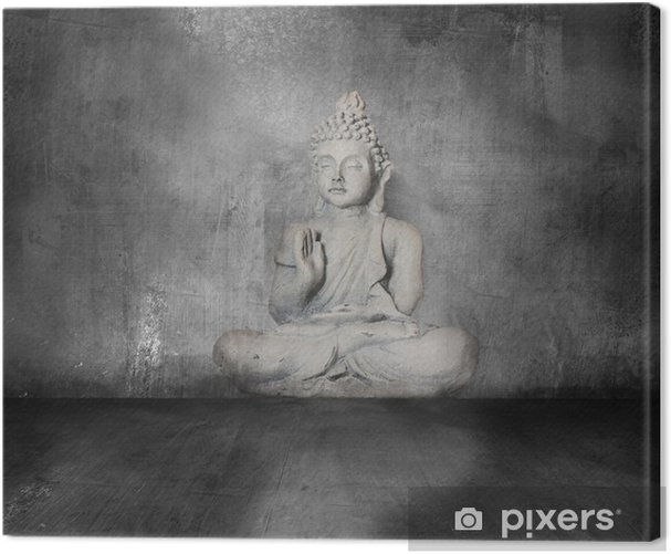 Obraz na płótnie Budda z grunge tle - Sztuka i twórczość