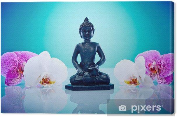 Obraz na płótnie Buddah z różowych i białych storczyk - Tematy