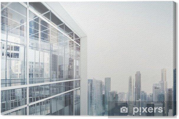 Obraz na płótnie Budynek biurowy na zewnątrz - Style