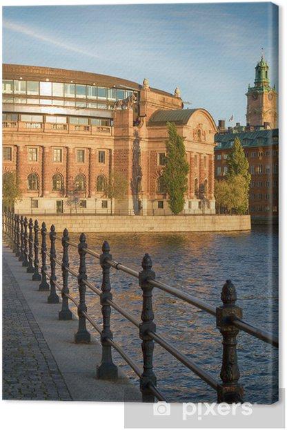 Obraz na płótnie Budynek parlamentu w Sztokholmie, Szwecja. - Europa