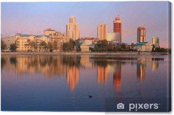 Obraz na płótnie Budynki w Jekaterynburgu beregu Iseti - Inne