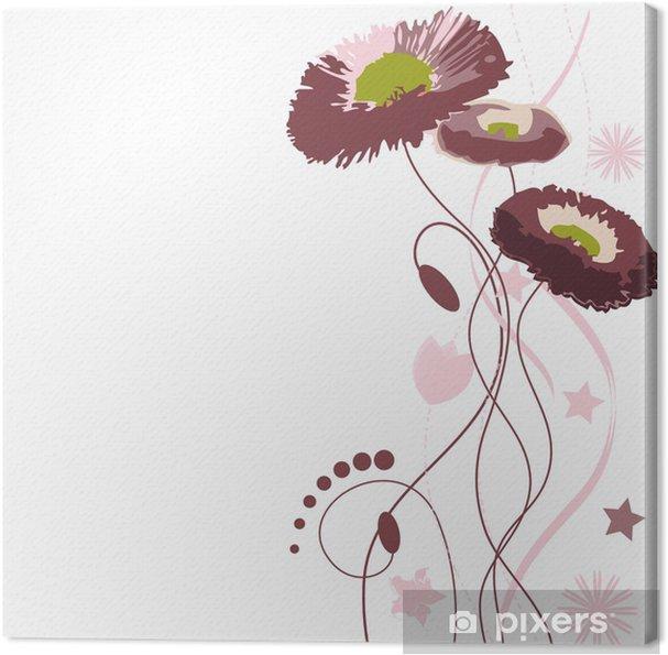 Obraz na płótnie Bukiet kwiatów abstrakcyjnych w odcieniach brązu - Kwiaty