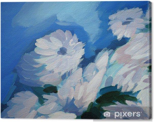 Obraz na płótnie Bukiet kwiatów, malowanie na płótnie, ilustracji - Sztuka i twórczość
