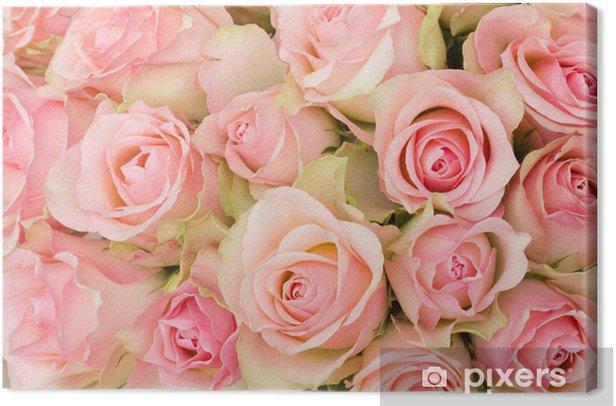 Obraz na płótnie Bukiet z różowych róż - Tematy