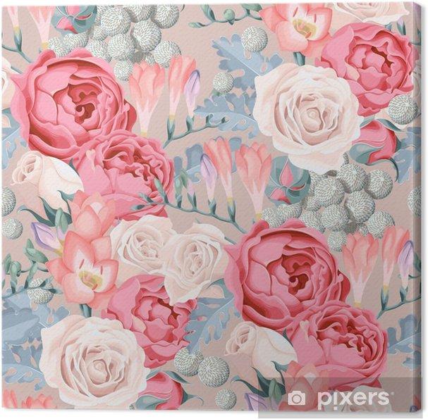 Obraz na płótnie Bukiety ślubne szwu - Rośliny i kwiaty