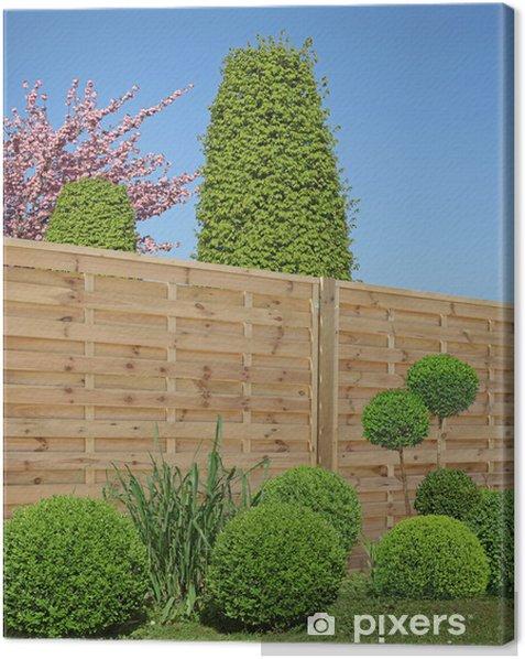 Obraz na płótnie Bukszpan rzeźbione drewniane kratach do - Dom i ogród