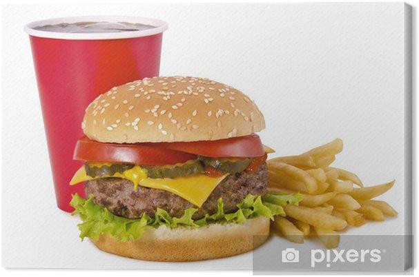 Obraz na płótnie Burger, frytki i cola - Tematy