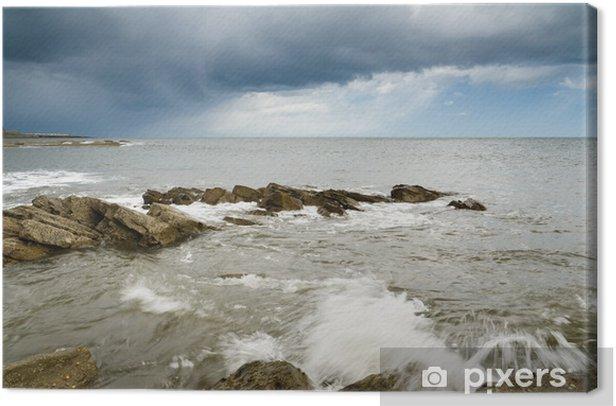 Obraz na płótnie Burza nad Newbiggin nad morzem - Woda