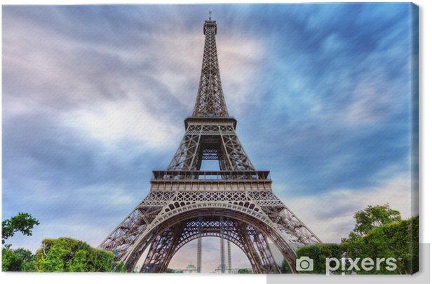 Obraz na płótnie Burzliwy niebo nad Wieży Eiffla. - Tematy