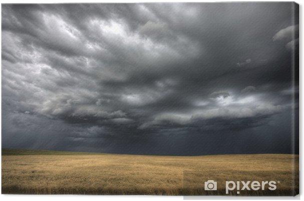 Obraz na płótnie Burzowe chmury saskatchewan - Krajobraz wiejski