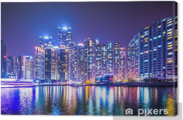 Obraz na płótnie Busan, Korea Południowa Haeundae Rejonowy Miasta - Azja