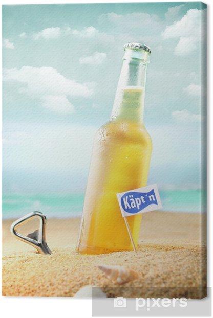 Obraz na płótnie Butelka schłodzonego piwa - Wakacje