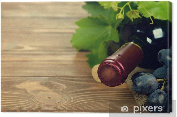 Obraz na płótnie Butelka wina i winogron - Tematy