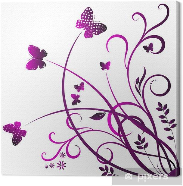 Obraz na płótnie Butterfly Swirl - Naklejki na ścianę