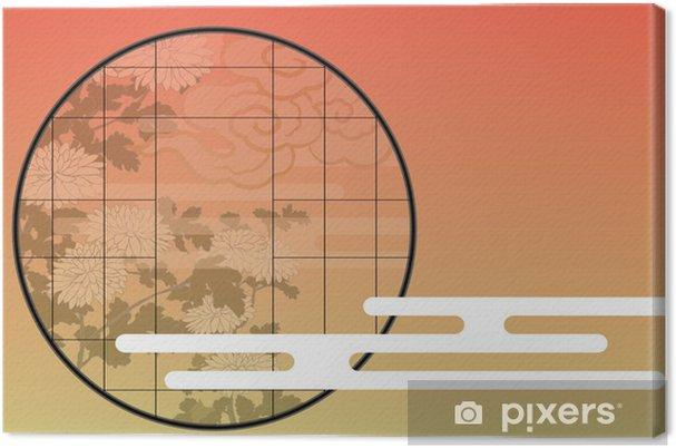 Obraz na płótnie Cały dzień i wieczorem Japoński pokój Shoji Chuang Pełny - Azja