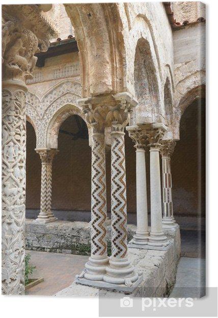 Obraz na płótnie Capitels, kolumny i łuki w Monreale klasztor Sycylii - Tematy
