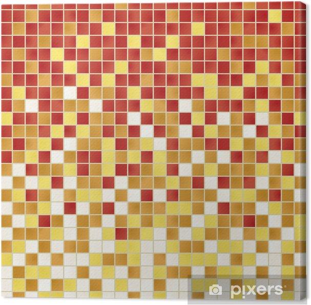 Obraz na płótnie Carreaux_couleurs - Abstrakcja