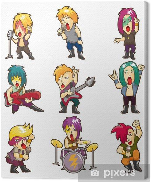 Obraz na płótnie Cartoon Heavy Metal, rock, zespół muzyczny - Mężczyźni
