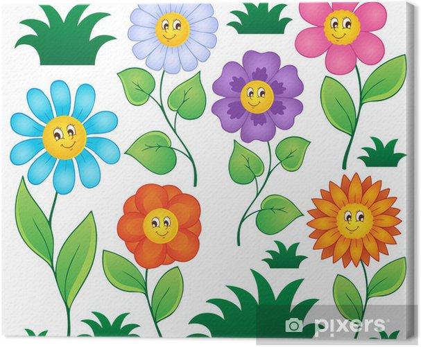 Obraz na płótnie Cartoon kwiaty collection 1 - Kwiaty