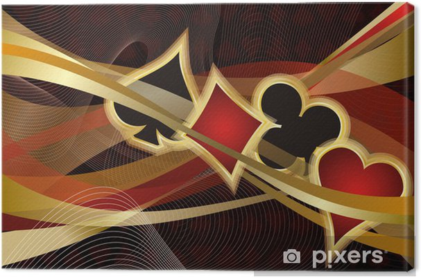 Obraz na płótnie Casino Poker banner, ilustracji wektorowych - Rozrywka