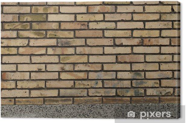 Obraz na płótnie Ceglana ściana - Tekstury