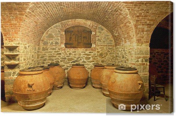 Obraz na płótnie Ceramiczne garnki w piwnicy - Europa