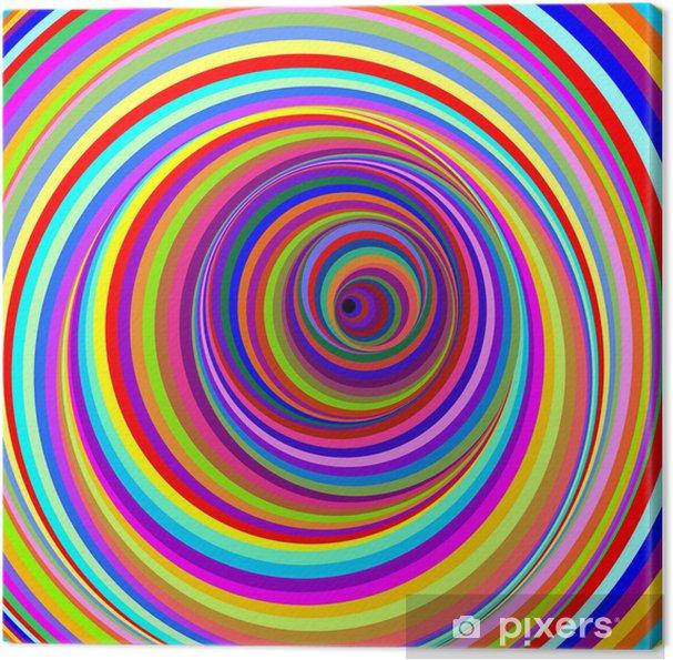 Obraz na płótnie Cerchi ipnotici-hipnotyczne psychodeliczne koła wektor -