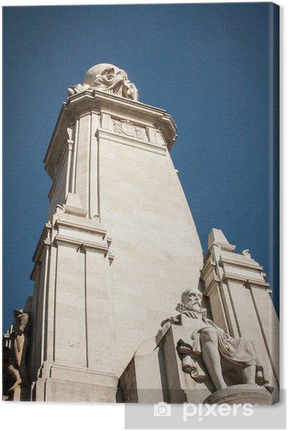 Obraz na płótnie Cervantes Monument - Miasta europejskie