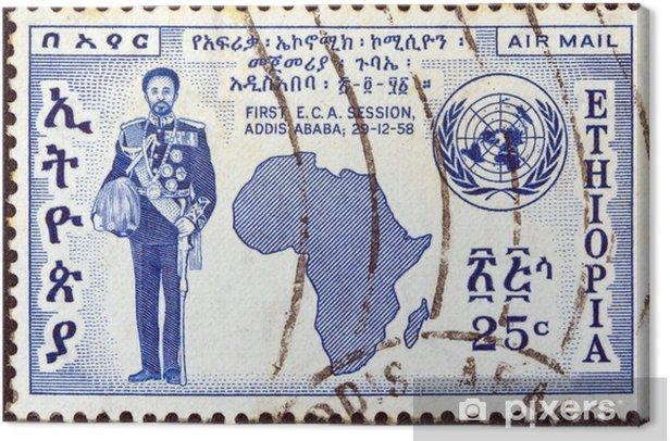 Obraz na płótnie Cesarz Haile Selassie I (Etiopia 1958) - Znaki i symbole