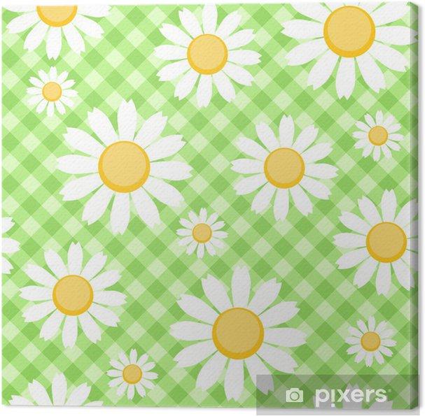 Obraz na płótnie Chamomiles na zielonym tle zaznaczone - Tła