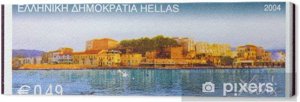 Obraz na płótnie Chania miasto portowe, Crete (Grecja 2004) - Europa