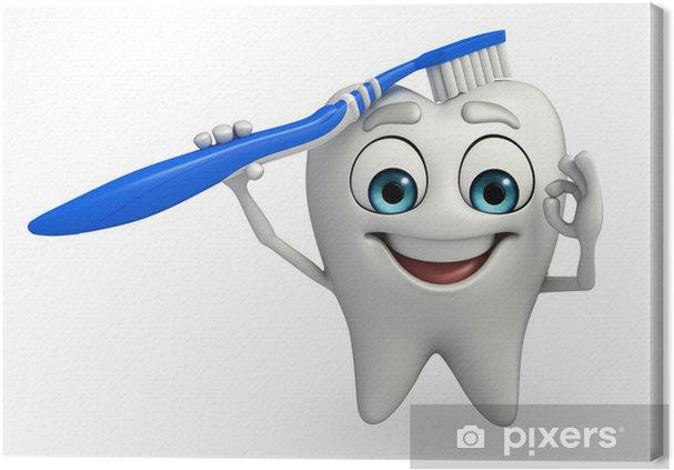Obraz na płótnie Charakter zęby szczotką do zębów - Zdrowie i medycyna