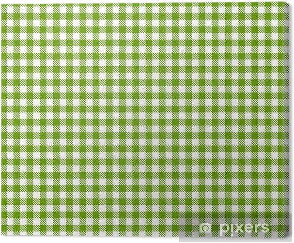 Obraz na płótnie Checkered obrus zielony wzór - nieskończoność - Style