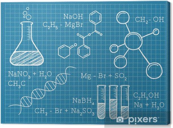Obraz na płótnie Chemia, nauki, pierwiastki chemiczne - Nauki stosowane i ścisłe