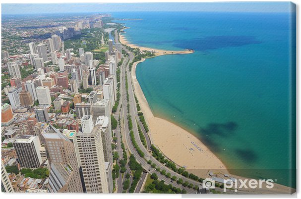 Obraz na płótnie Chicago - Gold Coast i Lake Michigan - Tematy