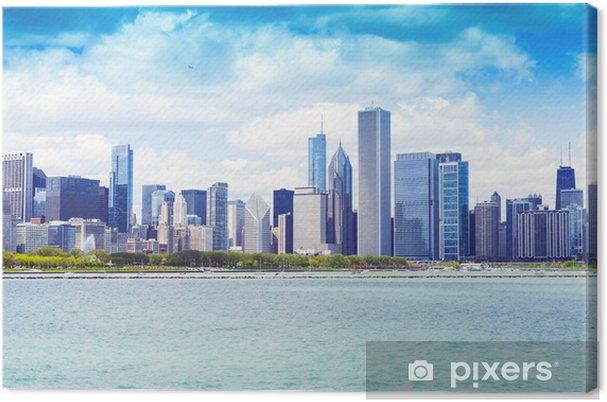Obraz na płótnie Chicago skyline z błękitne niebo jasne - Ameryka