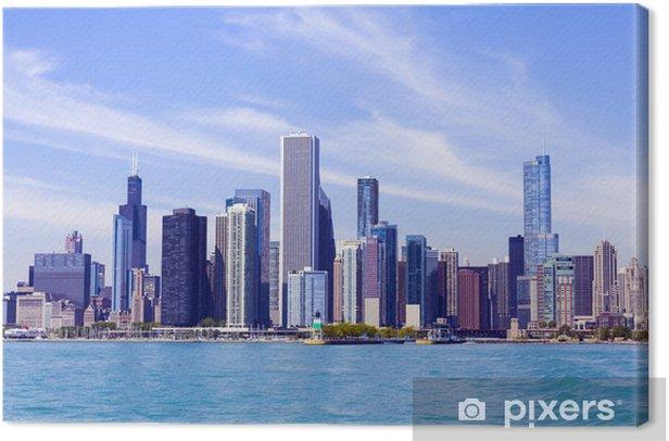Obraz na płótnie Chicago skyline z błękitne niebo jasne - Przemysł ciężki