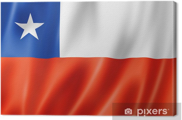 Obraz na płótnie Chilijska flag - Wakacje
