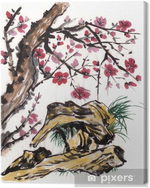 Obraz na płótnie Chinese Plum malarstwo - Sztuka i twórczość
