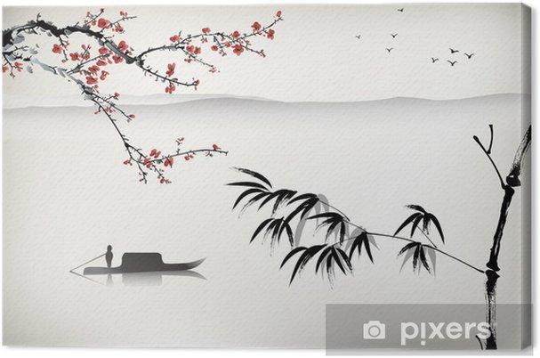 Obraz na płótnie Chiński krajobraz, malarstwo - Tematy
