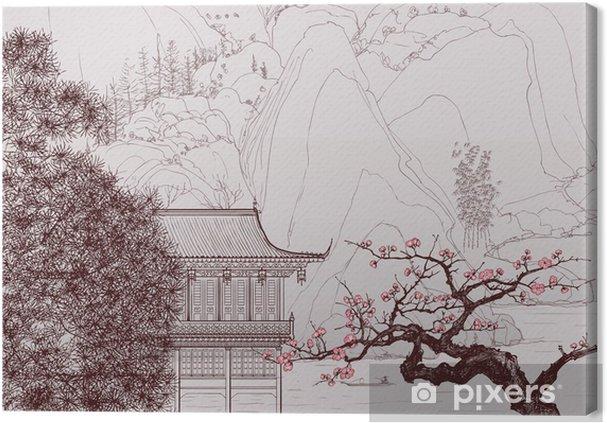 Obraz na płótnie Chiński krajobraz - Style