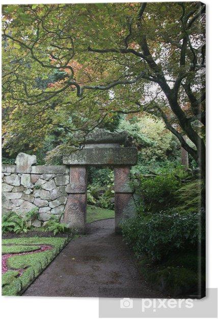 Obraz na płótnie Chiński ogród Arch - Drzewa