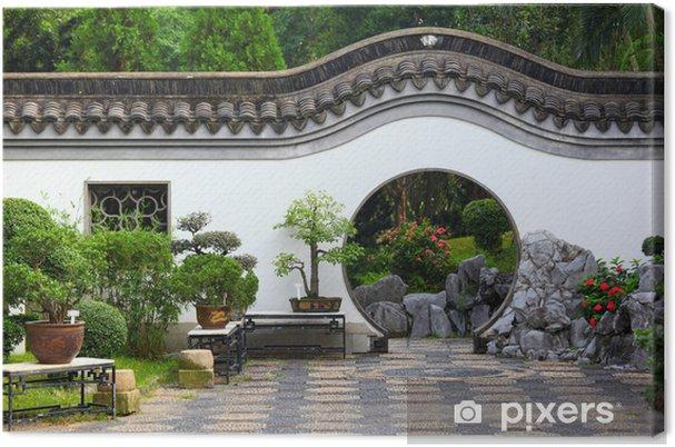 Obraz na płótnie Chiński ogród - Budynki prywatne