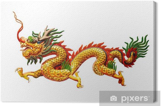 Obraz na płótnie Chiński smok na białym tle - Fikcyjne zwierzęta