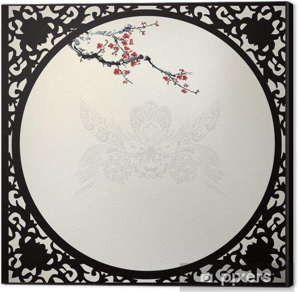 Obraz na płótnie Chiński Tło - Drzewa