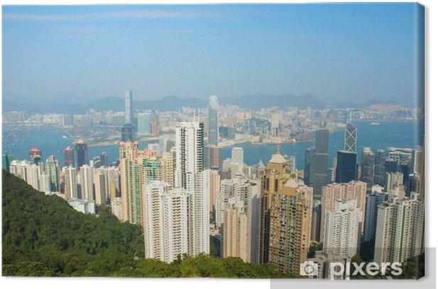 Obraz na płótnie Chiny, Hongkong Pejzaż ze szczytu - Azja