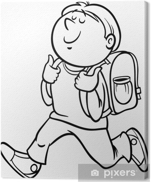 Obraz na płótnie Chłopiec ucznia klasy barwienia strona - Edukacja